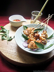 Thai Style Roasted Chicken Satay/ Skewers (Smoky Wok (Jasmine)) Tags: asiansnacks thaicuisine southeastasiancuisine thaisatay asianappetizers spicychickendishes thaichickenskewers partyfoodthaichickensatay