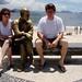 Natascha, Carlos D. de Andrade (sem óculos) e Hans