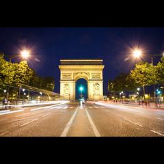 Arc de Triomphe (Timothy TL) Tags: uk paris france london composition de french europe long exposure colours britain arc triomphe landmark le arcdetriomphe defense