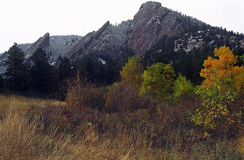 Photo - Fall and Winter Flatirons