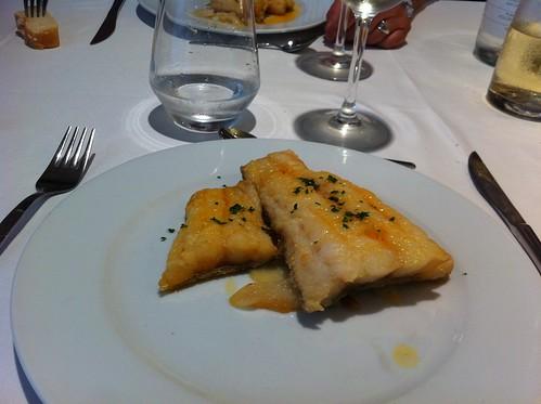 Vic | Restaurant del Casino | Bacalao a la llauna con patatas