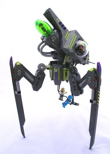 lego alien conquest tripod invader instructions