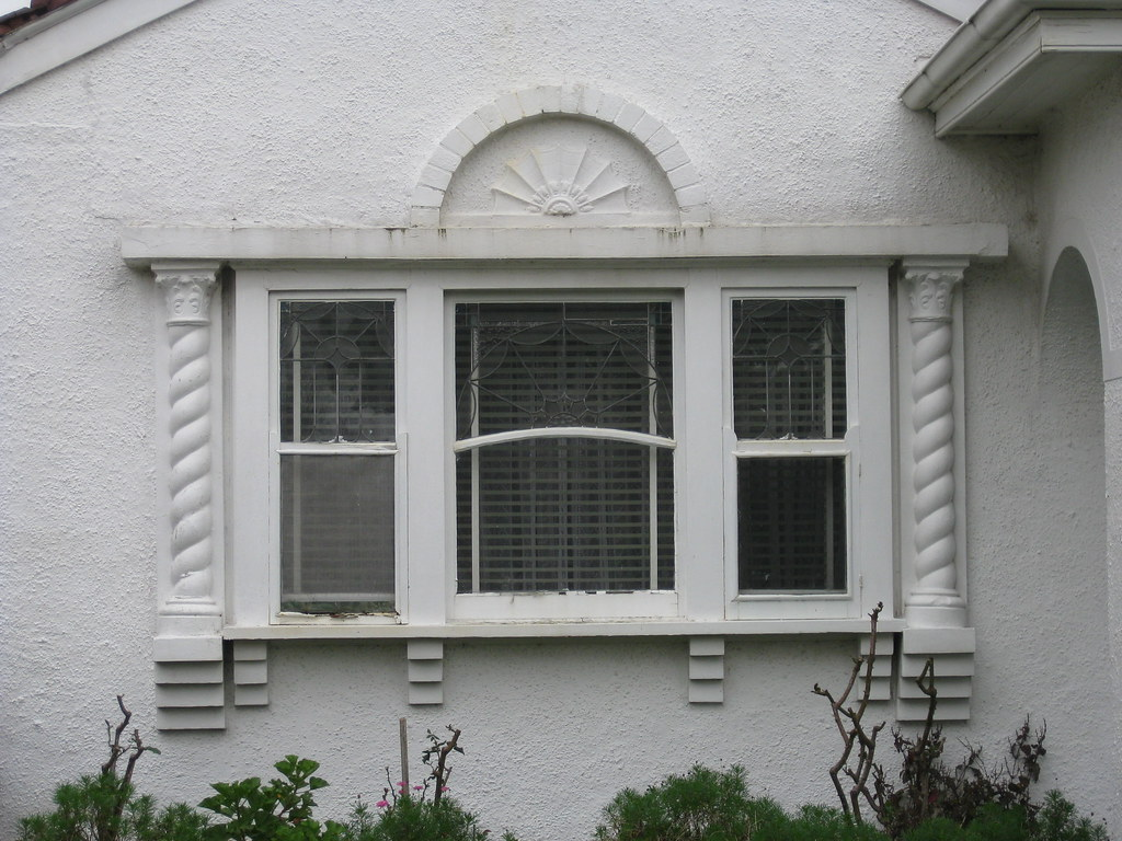 The Window of a Spanish Mission Style Villa in White - Moonee Ponds