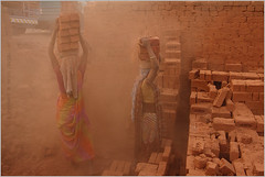 dust blind, navsari (nevil zaveri) Tags: people woman india brick industry work blog women factory bricks stock documentary images labour worker zaveri making gujarat baked stockimages peopleatwork unit travelogue gujrat nevil navsari nevilzaveri