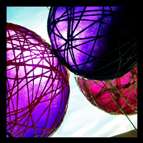 #Balloons in the #sun. Wrapped in #yarn. #Pretty!!!