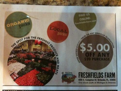 Freshfields Farm Coupon-Orlando, FL