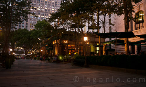 View of Bryant Park Grill, NYC