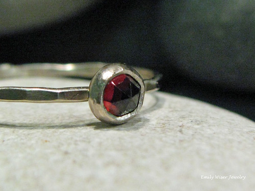 Rose Cut Garnet Ring by EmilyWiserJewelry2011