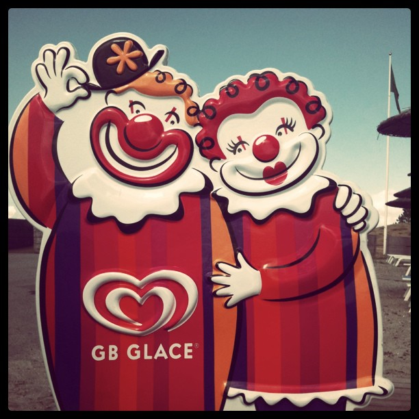 The iconic Swedish GB Glace ice cream couple, taken last year back home