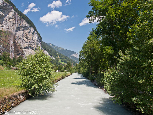 The White Lutschine - looking down the Lauterbrunnen valley