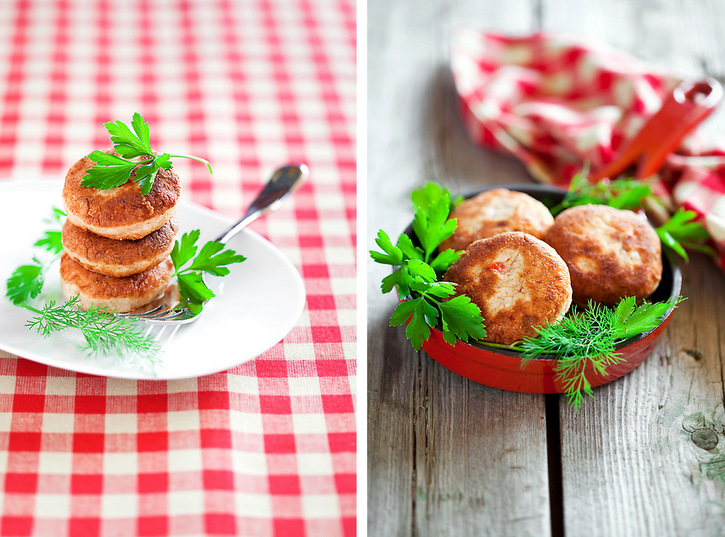 Chicken meatballs sautéed with herbs, lemon, onion and garlic