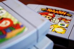 Nostalgia (FaruSantos) Tags: macro nintendo gray mario games videogames cinza nintendo64 smashbros marioparty cartucho cartrige
