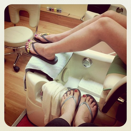 our very first pedicures