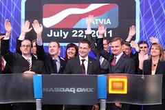 Ministru prezidents Valdis Dombrovskis ieskand...