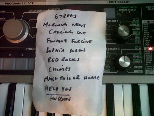 08 Typical Tour Set List