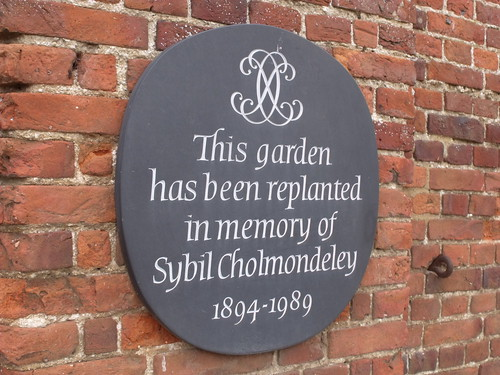 Houghton Hall - Walled Garden - plaque - in memory of Sybil Cholmondeley