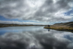 Lost in reflection - Jkulsrln, Iceland (pas le matin) Tags: light sky cloud lake man reflection silhouette clouds landscape island grey gris iceland islandia hiking lumire lac hike ciel nuage nuages paysage reflexion homme jokulsarlon islande jkulsrln icelandic islanda dramatique menacant islandais icelandlandscape hikingiceland paysageislande