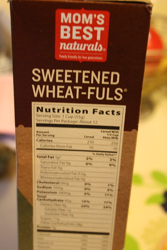 Mom's best sweetened wheat-fuls