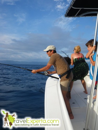 fishing from a boat in costa rica