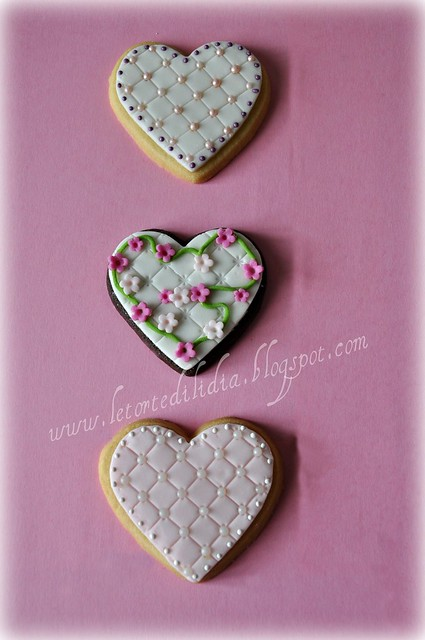 Biscotti decorati: Romantici cuori