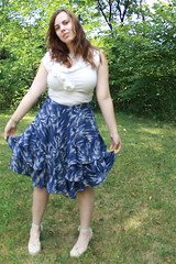 Outfit - Espadrilles, Anthropologie skirt and blouse