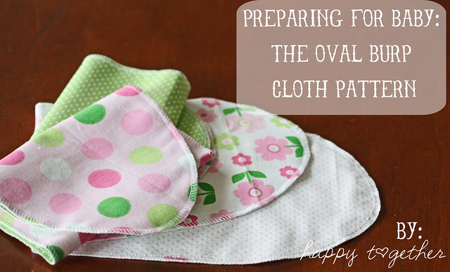 The Oval Burp Cloth Pattern