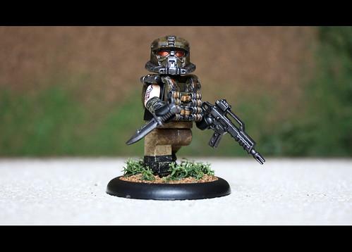 Custom minifig Futuristic Mercenary