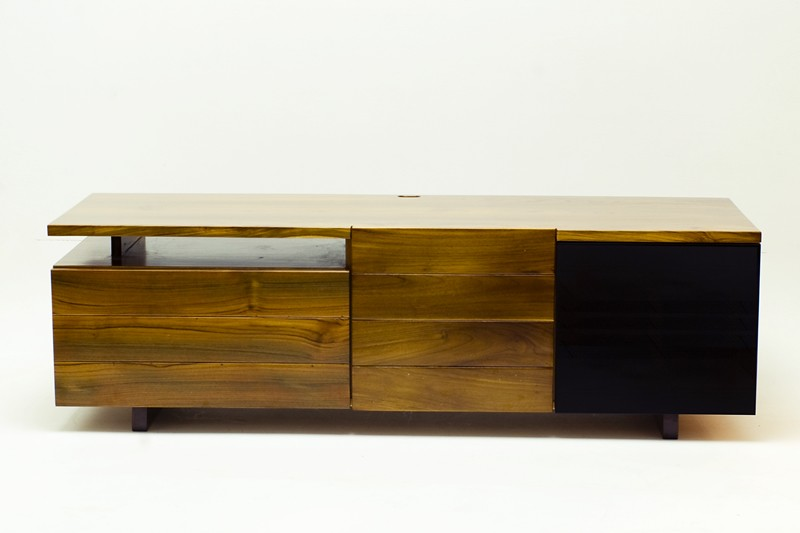 Woodworking Project: A modern solid teak wood TV cabinet