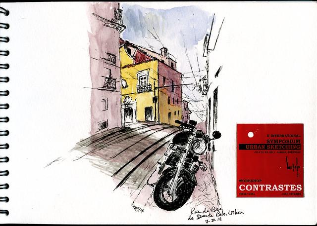 Rua da Bica de Duarte Belo, Lisbon, Portugal