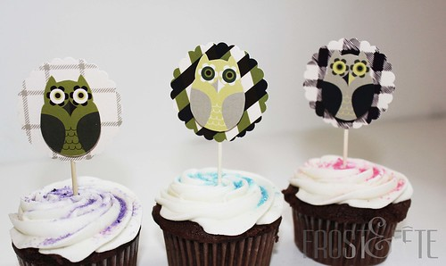 Back to School Ivy League Owl cupcake toppers