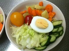 朝食サラダ(2011/7/28)