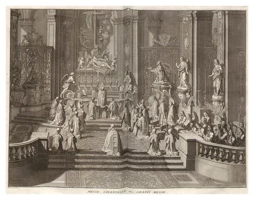 005-Religion catolica-misa solemne-Ceremonias et coutumes religieuses de tous les peuples du monde 1741- Bernard Picart-© Universitätsbibliothek Heidelberg