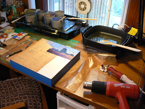 Encaustic station
