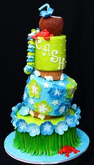 Tropical Baby Shower cake (its-a-piece-of-cake) Tags: baby cake shower coconut luau hawaiian tropical hawaiiancake tropicalbabyshowercake