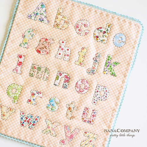 applique alphabet by nanaCompany