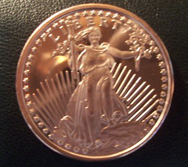 2011 One Ounce Pure Copper Saint Gaudens Coin