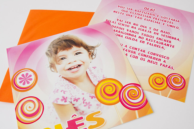 Tema Lollipop - Convite