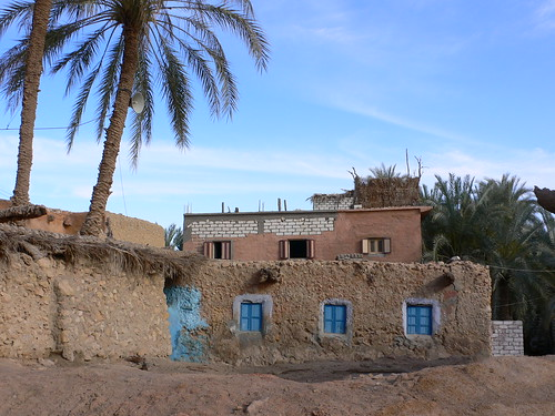 Near the Temple of the Oracle in Siwa in Egypt