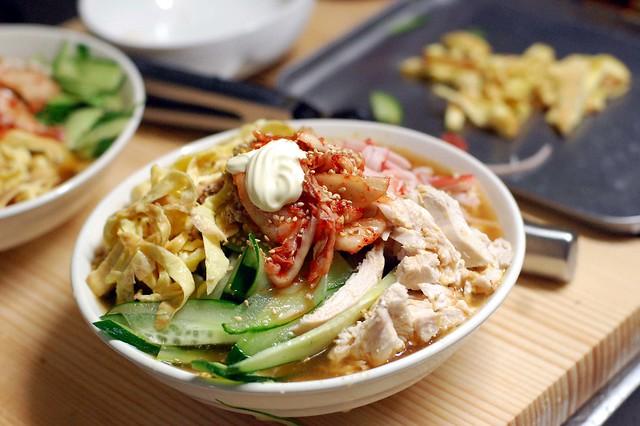 トマトスープ冷やし中華!大盛り! #gohan