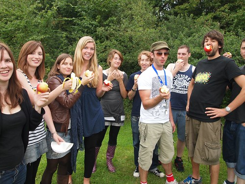 Group photo. Some of these people work for Delib. They like apples. I am not in this picture