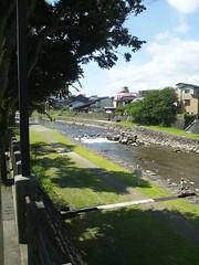 高山市内を流れる宮川の写真