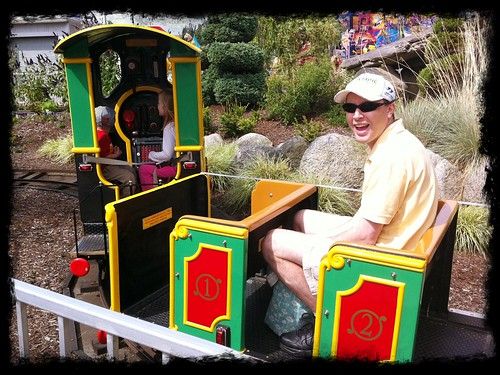 Jon on the kids' train