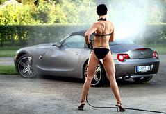 Johanna BMW 2 (Pekka Rautiainen) Tags: portrait woman carwash bikini figure bmw z4 fitness roadster bodyfitness johannakoskinen