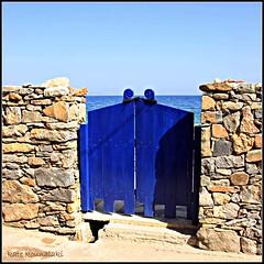 (k.kounalaki) Tags: door old travel blue sea beach nature water colors beautiful architecture island greek colours village traditional kreta greece crete sitia kriti κρήτη anawesomeshot colorphotoaward