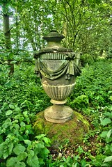 woodland vase (jcw1967) Tags: urban urn stone woodland lost hidden urbanexploration vista vase historical exploration harewoodhouse urbex harewood pleasuregrounds