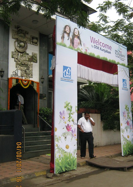 DSK House on JM Road on the day of launch of DSK Kunjaban - 1 BHK 2 BHK Flats - Punawale - off Mumbai Bangalore Bypass - Pune 411 045