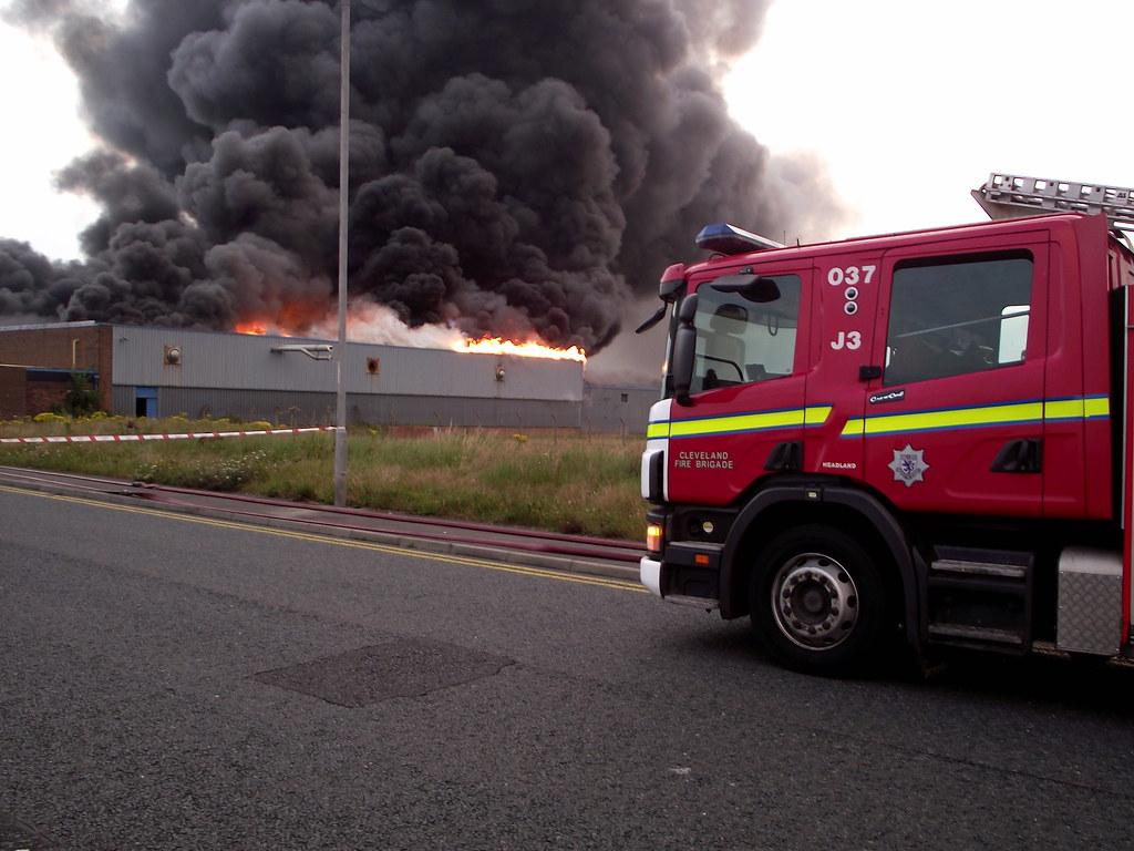 Hartlepool factory Fire.