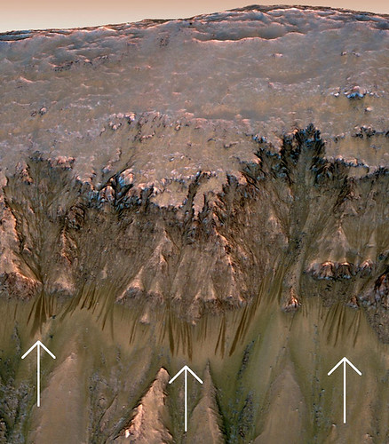 Possible flow of water on Mars