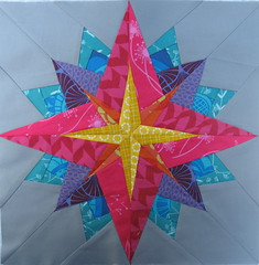 Block for Debbie (jenjohnston) Tags: star quiltblock paperpieced quiltingbee