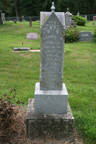 Tombstone of James W Fowlie